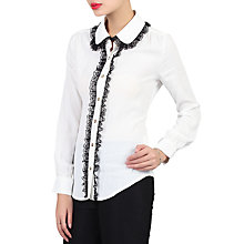 Buy Jolie Moi Contrast Lace Trimmed Blouse Online at johnlewis.com