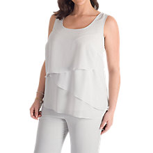 Buy Chesca Triple Layer Chiffon Tunic, Silver Grey Online at johnlewis.com