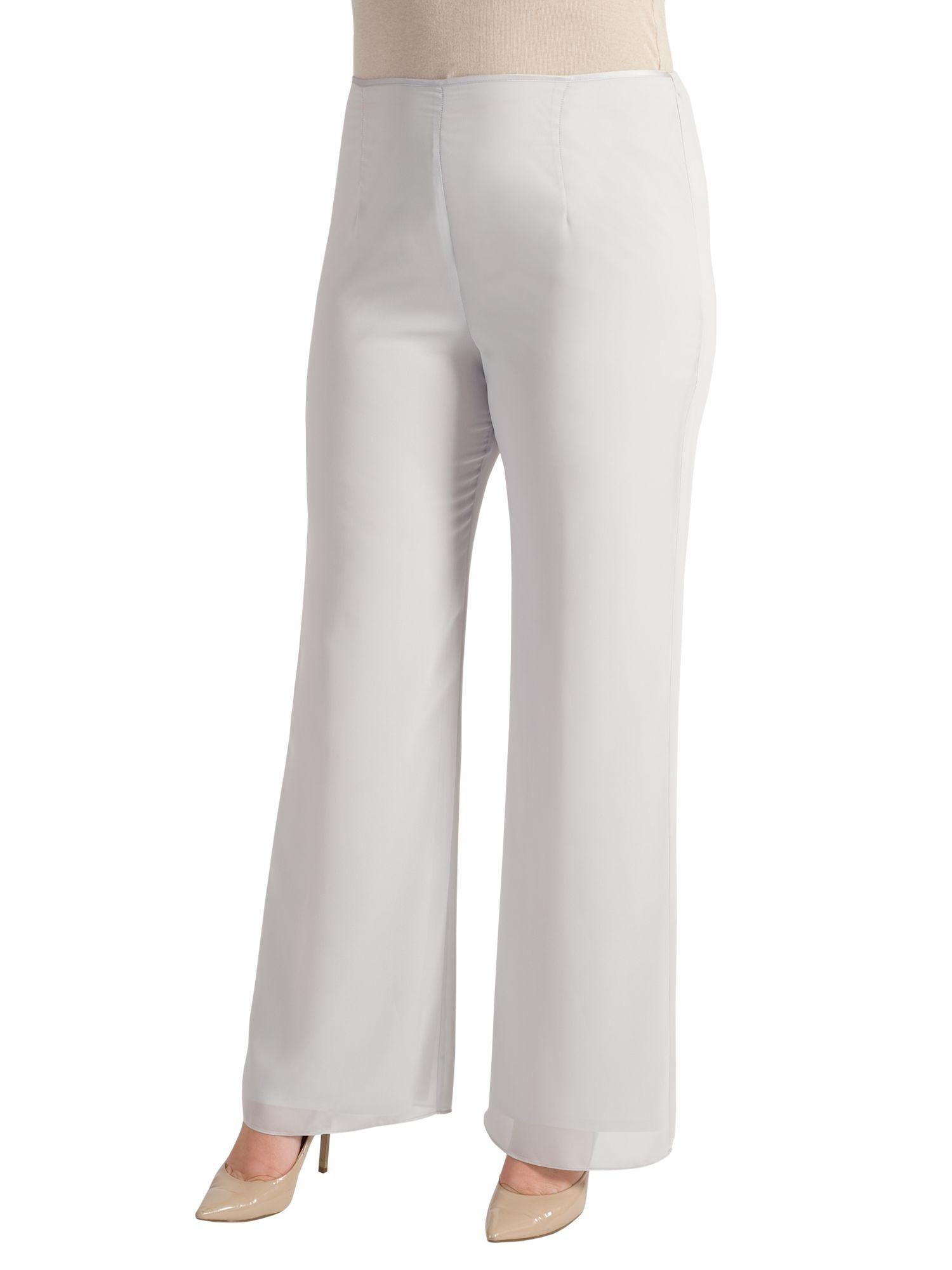 Chesca Chesca Satin Trim Chiffon Trousers