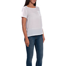 Buy French Connection Crepe Light Raw Edge Pocket T-Shirt Online at johnlewis.com
