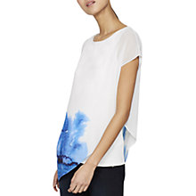 Buy Mint Velvet Lena Print Asymmetric T-Shirt, Multi Online at johnlewis.com
