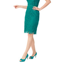 Buy Jacques Vert Petite Leaf Lace Skirt, Bright Green Online at johnlewis.com