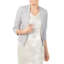 Buy Jacques Vert Angled Edge To Edge Jacket, Mid Grey Online at johnlewis.com