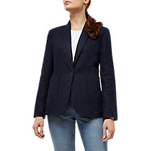 Buy Jaeger Linen Blazer, Navy Online at johnlewis.com