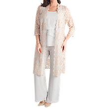 Buy Chesca Scallop Lace Coat, Gold Online at johnlewis.com