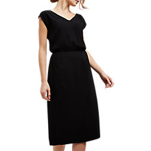 Buy Jaeger Sheer Detail Sweetheart Dress, Black Online at johnlewis.com