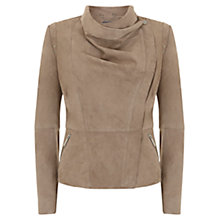 Buy Mint Velvet Suede Organic Biker Jacket Online at johnlewis.com