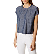 Buy Karen Millen Boxy Denim Top, Blue Online at johnlewis.com