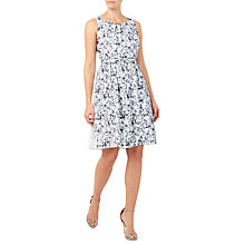 Buy Jacques Vert Plisse Print Dress, Mid Grey/Multi Online at johnlewis.com