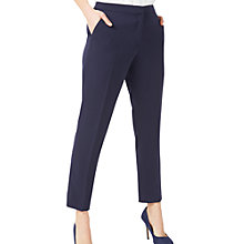 Buy Jacques Vert Petite Tapered Trousers, Navy Online at johnlewis.com