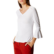 Buy Karen Millen Drape Jersey Top, Navy Online at johnlewis.com
