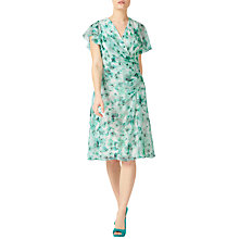 Buy Jacques Vert Petite Printed Soft Dress, Green/Multi Online at johnlewis.com