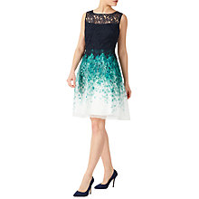 Buy Jacques Vert Petite Lace Organza Dress, Multi/Navy Online at johnlewis.com