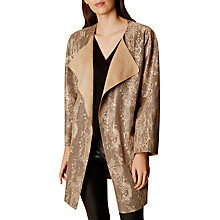 Buy Karen Millen Faux Suede Wrap Jacket, Neutral Online at johnlewis.com