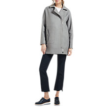 Buy Grace & Oliver Isla Longline Biker Jacket, Grey Online at johnlewis.com