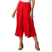Buy Karen Millen Pleated Culottes, Red Online at johnlewis.com