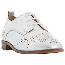 Buy Dune Foster Lace Up Leather Brogues, Silver Online at johnlewis.com