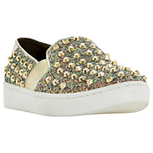 Buy Dune Elma Studded Slip On Trainers, Multi/Glitter Online at johnlewis.com