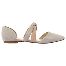 Buy Mint Velvet Callie Suede Pointed Toe Pumps, Grey Online at johnlewis.com