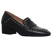 Buy KG by Kurt Geiger Keekee Block Heeled Loafers, Black Online at johnlewis.com