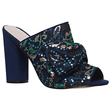 Buy KG by Kurt Geiger Jessie Block Heeled Sandals, Navy Online at johnlewis.com