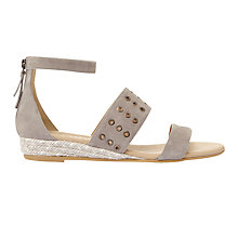 Buy Mint Velvet Nelly Eyelet Strap Sandals, Grey Online at johnlewis.com