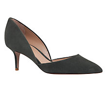 Buy Kurt Geiger Talli Two Part Court Shoes, Khaki Online at johnlewis.com