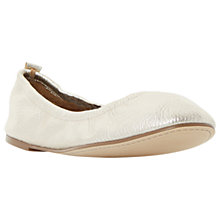Buy Dune History Ballet Pumps, Gold Online at johnlewis.com