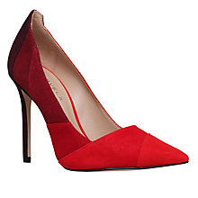 Buy Carvela Awol Pointed Toe Stiletto Court Shoes, Red Online at johnlewis.com