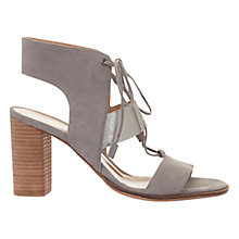 Buy Mint Velvet Kara Lace Up Block Heeled Sandals, Grey Online at johnlewis.com