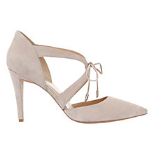 Buy Mint Velvet Naomi Tie Front Court Shoes, Light Pink Online at johnlewis.com