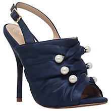 Buy KG by Kurt Geiger Jem Pearl Stiletto Sandals, Navy Online at johnlewis.com