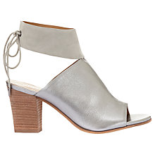 Buy Mint Velvet Mia Block Heeled Sandals, Stone Online at johnlewis.com