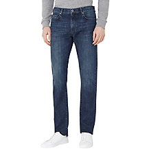 Buy Reiss Tenda Washed Slim Jeans, Mid Blue Online at johnlewis.com