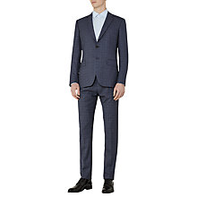 Buy Reiss Crow Check Classic Fit Three Piece Suit, Blue Online at johnlewis.com