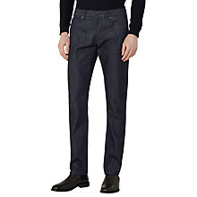 Buy Reiss Dorset Slim Jeans, Dark Indigo Online at johnlewis.com