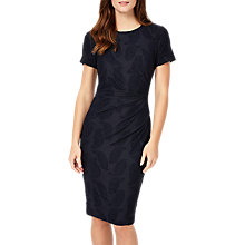 Buy Phase Eight Feather Jacquard Dress, Navy Online at johnlewis.com