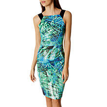 Buy Karen Millen Vibrant Palm Print Dress, Black/White Online at johnlewis.com
