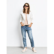 Buy hush Frayed Crop Jacket, Ecru Online at johnlewis.com