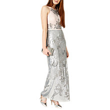 Buy Phase Eight Collection 8 Edaline Dress, Cameo/Silver Online at johnlewis.com