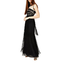 Buy Phase Eight Collection 8 Fringe Full Length Dress, Black Online at johnlewis.com