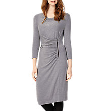 Buy Phase Eight Zoya Zip Side Dress, Grey Marl Online at johnlewis.com