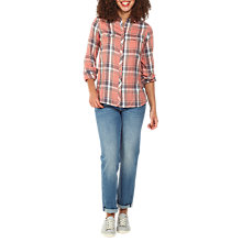 Buy Fat Face Rosie Check Shirt, Blush Online at johnlewis.com