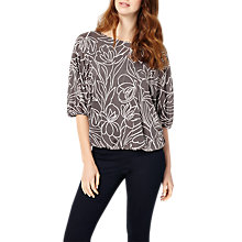 Buy Phase Eight Cecily Jacquard Top, Charcoal/Ivory Online at johnlewis.com