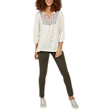 Buy Fat Face Maple Embroidered Blouse, Ivory Online at johnlewis.com