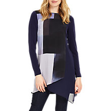 Buy Phase Eight Vinny Colour Block Tunic, Navy Online at johnlewis.com