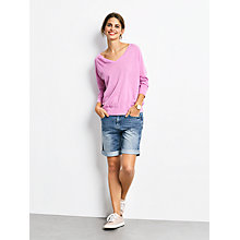 Buy hush Linen V-Neck Jumper, Lavender Online at johnlewis.com