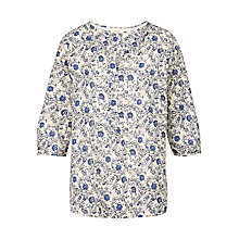 Buy Fat Face Jenny Trailing Woodblock Popover Top, Ivory Online at johnlewis.com
