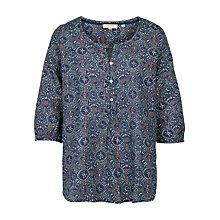 Buy Fat Face Jenny Jewel Geo Print Popover Top, Indigo Online at johnlewis.com
