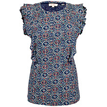 Buy Fat Face Maisey Jewel Geometric T-Shirt, Indigo Online at johnlewis.com